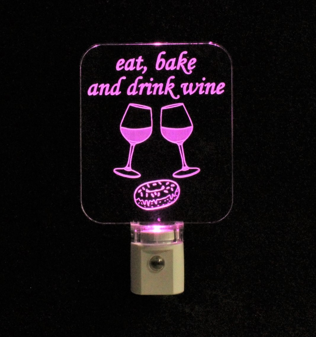 Fun Wine Donut Night Light